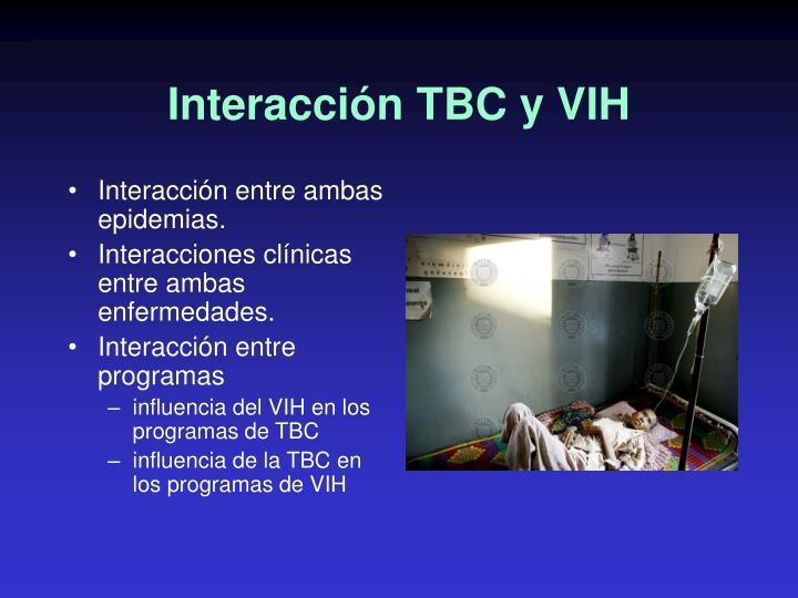 Interacción TBC y VIH