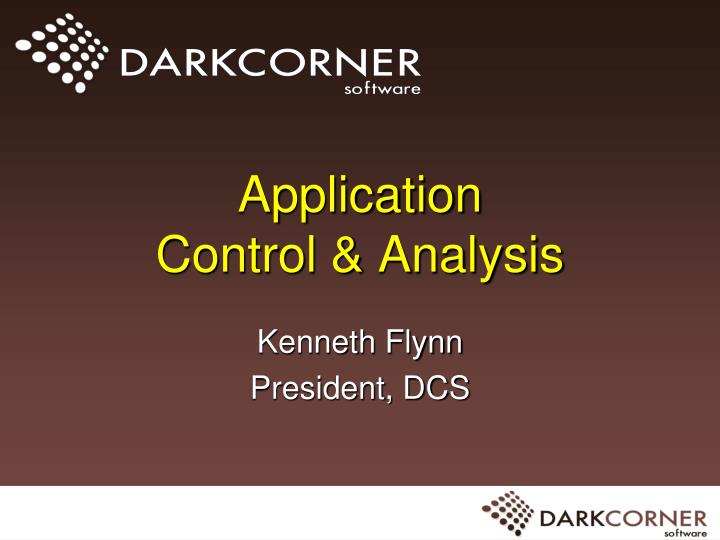 Application control analysis