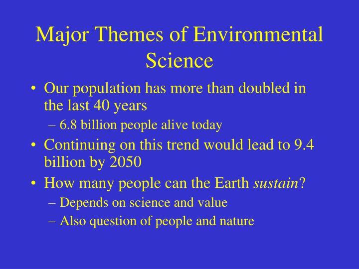 Major Themes of Environmental Science