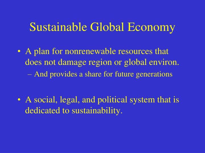 Sustainable Global Economy