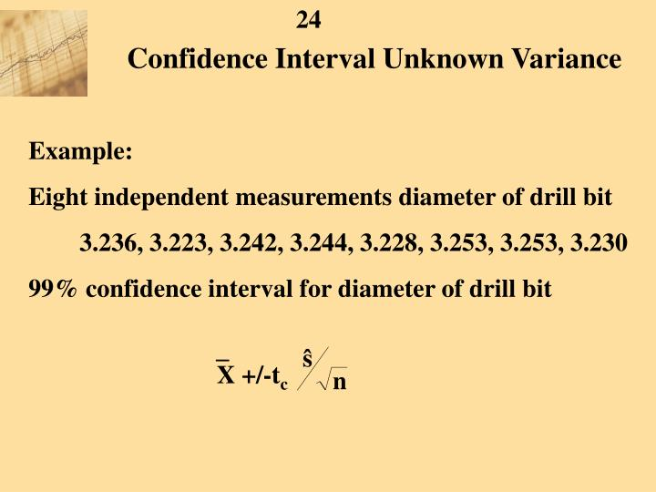 Confidence Interval Unknown Variance