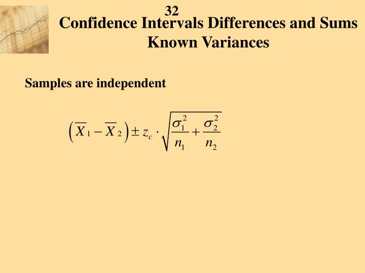 Confidence Intervals Differences and Sums