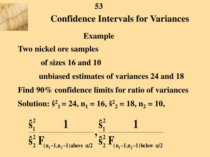 Confidence Intervals for Variances