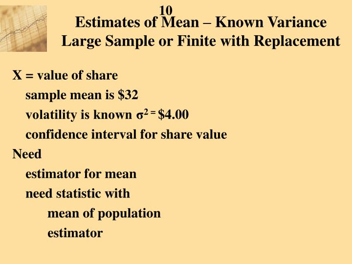 Estimates of Mean – Known Variance