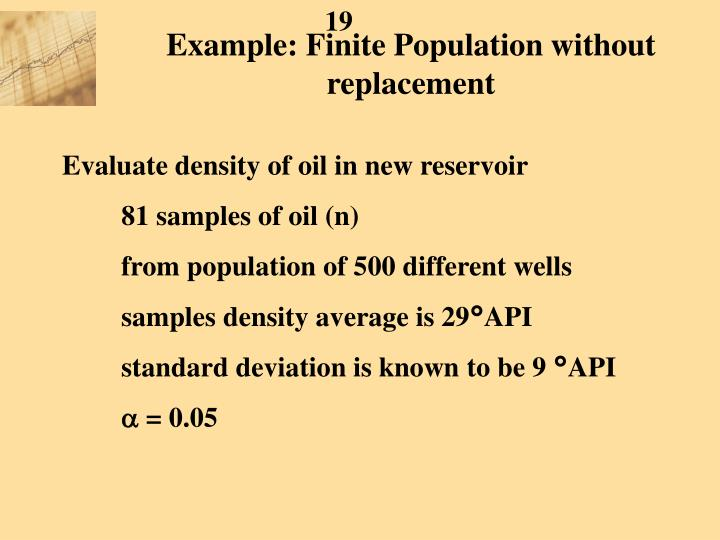 Example: Finite Population without replacement