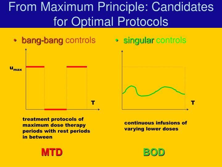 From Maximum Principle: Candidates for Optimal Protocols