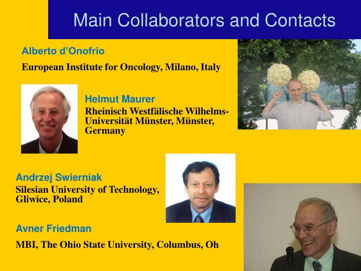 Main Collaborators and Contacts