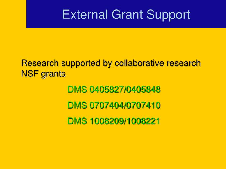 External Grant Support