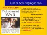 tumor anti angiogenesis