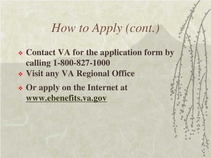 How to Apply (cont.)