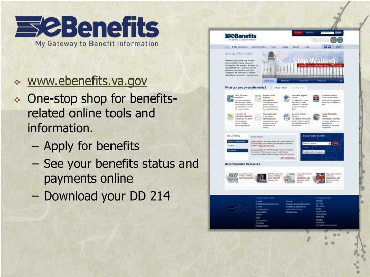 www.ebenefits.va.gov