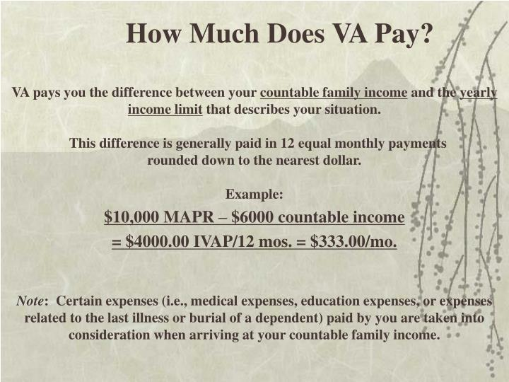 How Much Does VA Pay?