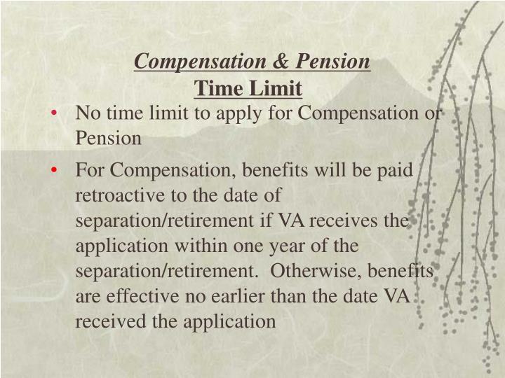 Compensation & Pension