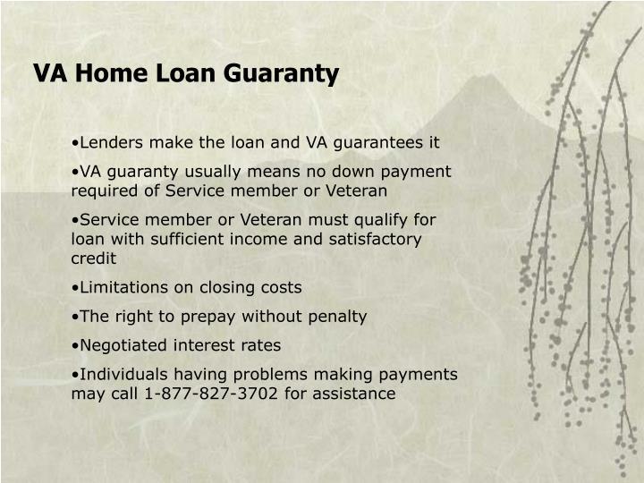 VA Home Loan Guaranty