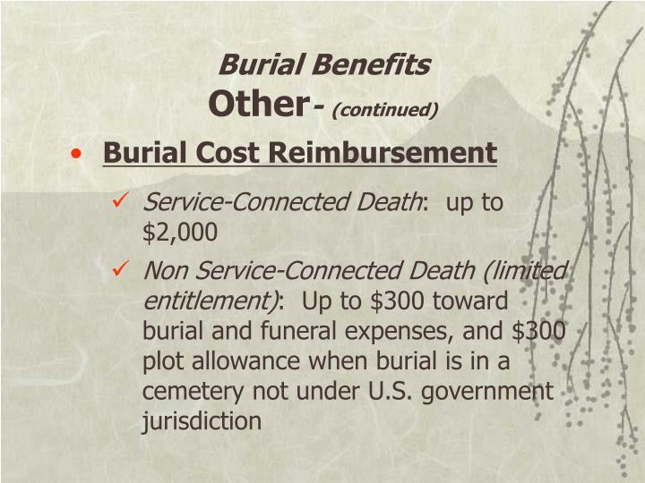 Burial Benefits