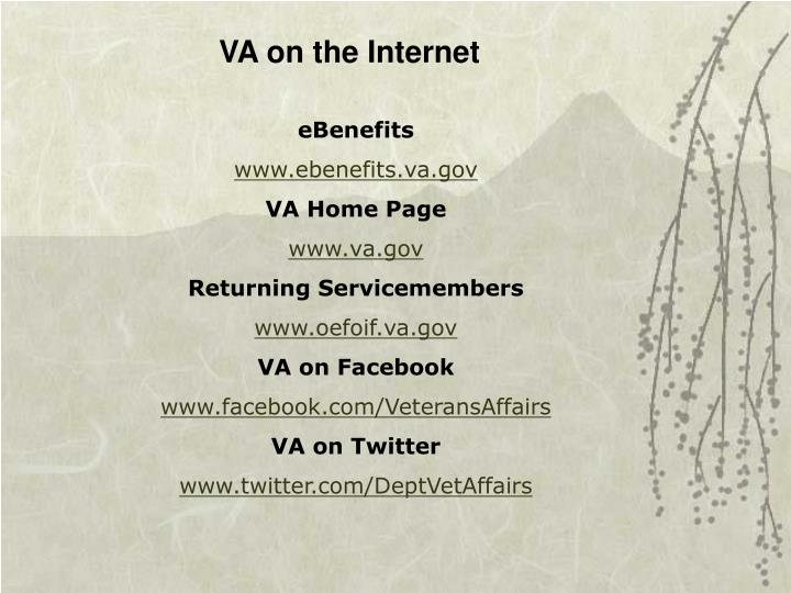 VA on the Internet