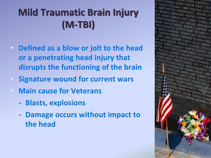 Mild Traumatic Brain Injury (M-TBI)