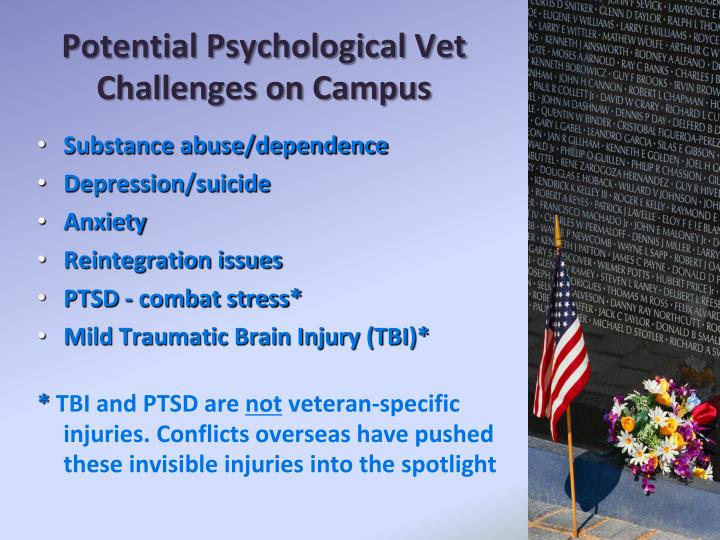 Potential Psychological Vet Challenges on Campus