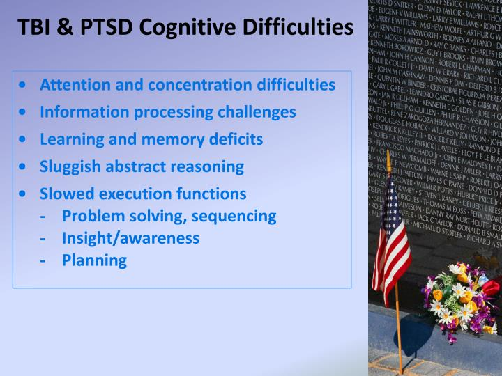 TBI & PTSD Cognitive Difficulties