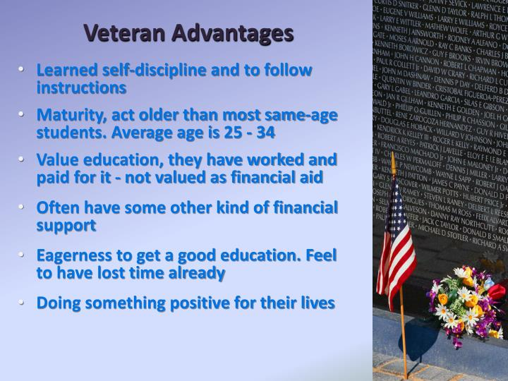 Veteran Advantages