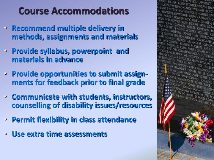 Course Accommodations