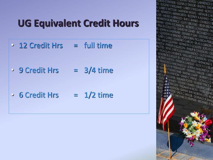 UG Equivalent Credit Hours