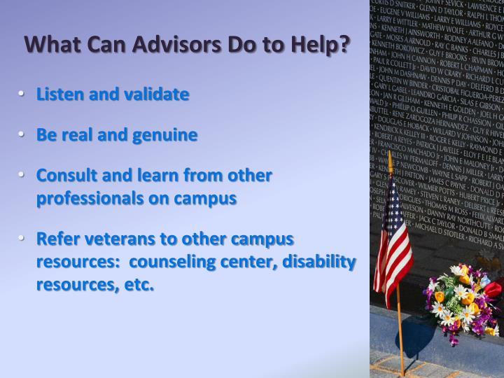 What Can Advisors Do to Help?