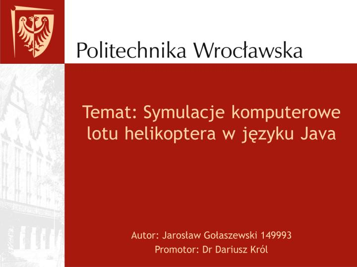 Temat: Symulacje