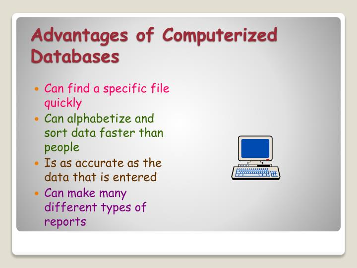 Advantages of Computerized Databases