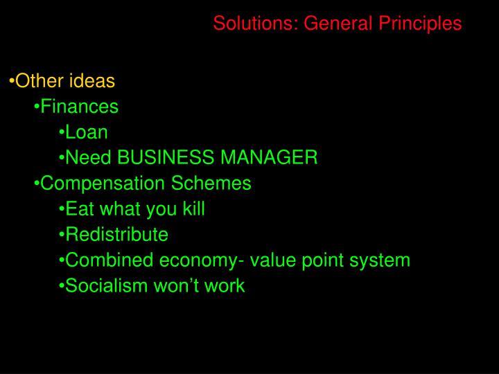 Solutions: General Principles