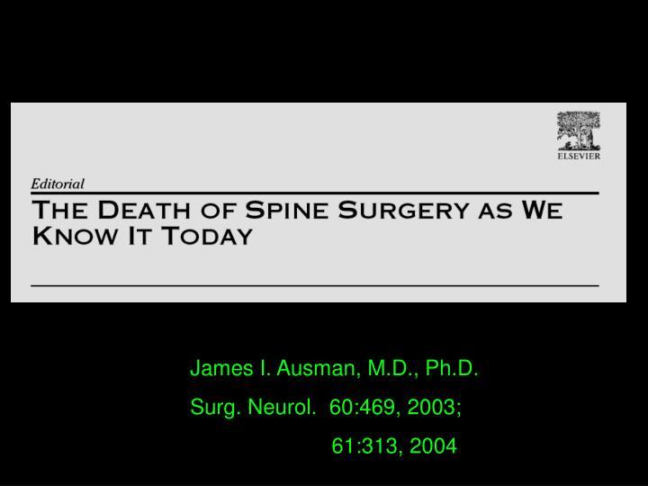 James I. Ausman, M.D., Ph.D.