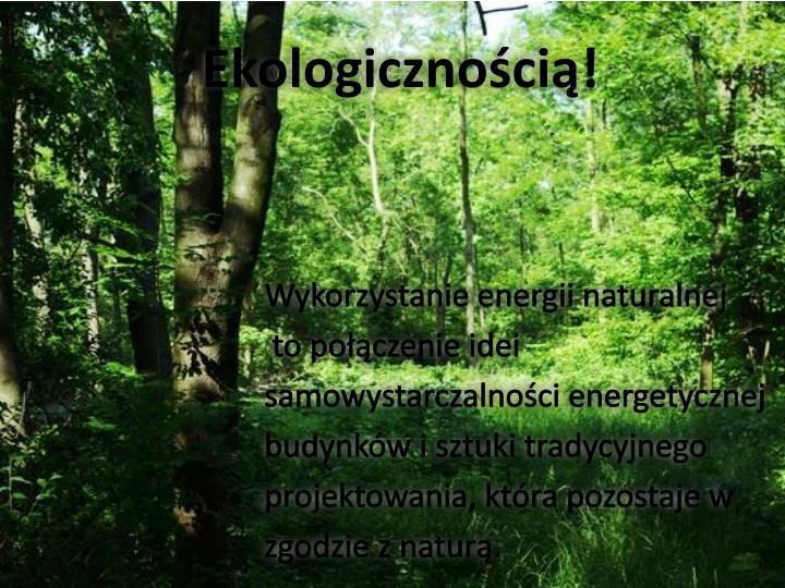 Ekologicznością
