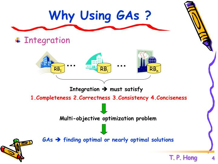 Why Using GAs ?
