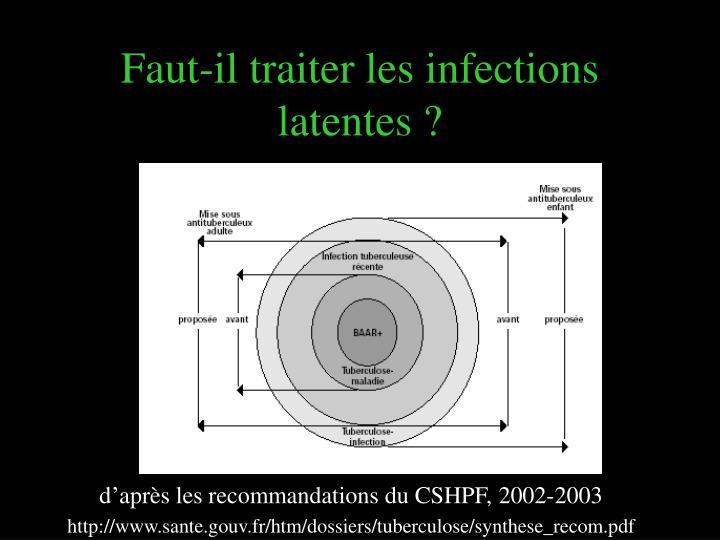 Faut-il traiter les infections latentes ?