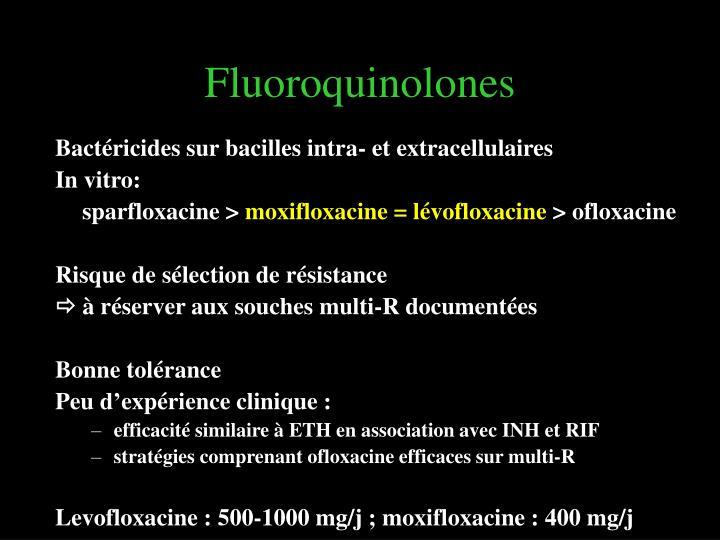 Fluoroquinolones