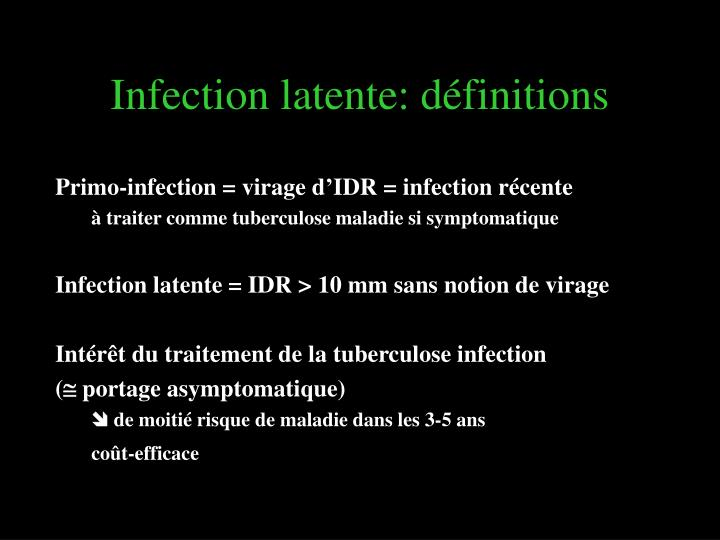 Infection latente: définitions