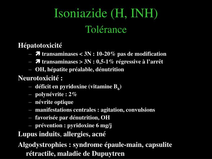 Isoniazide (H, INH)