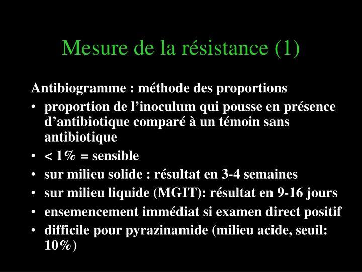 Mesure de la résistance (1)