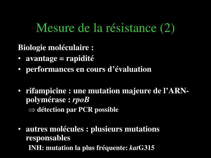 Mesure de la résistance (2)