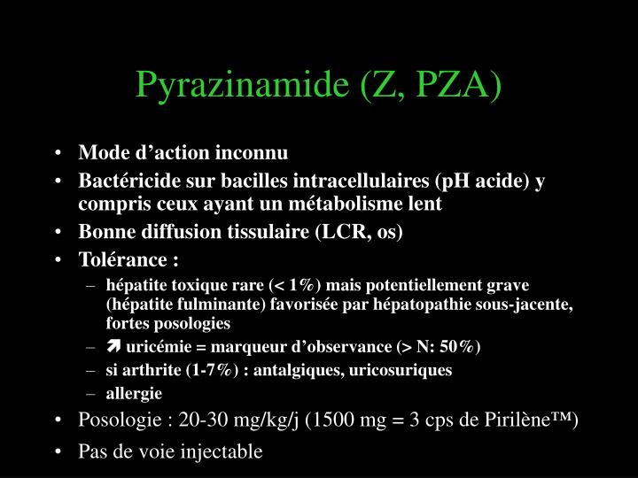 Pyrazinamide (Z, PZA)