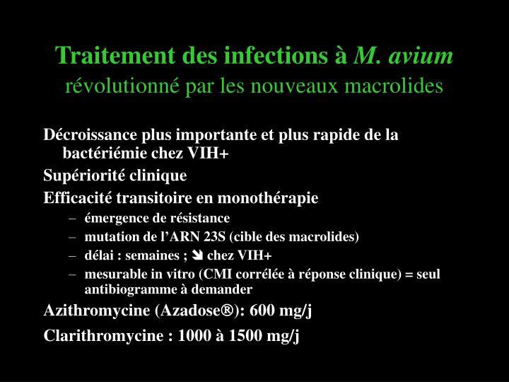 Traitement des infections à