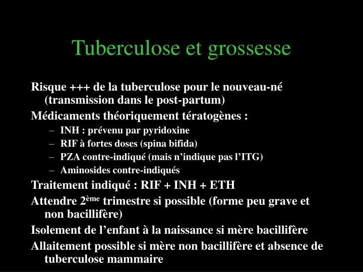 Tuberculose et grossesse