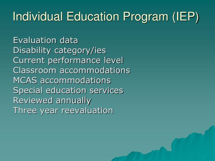 Individual Education Program (IEP)