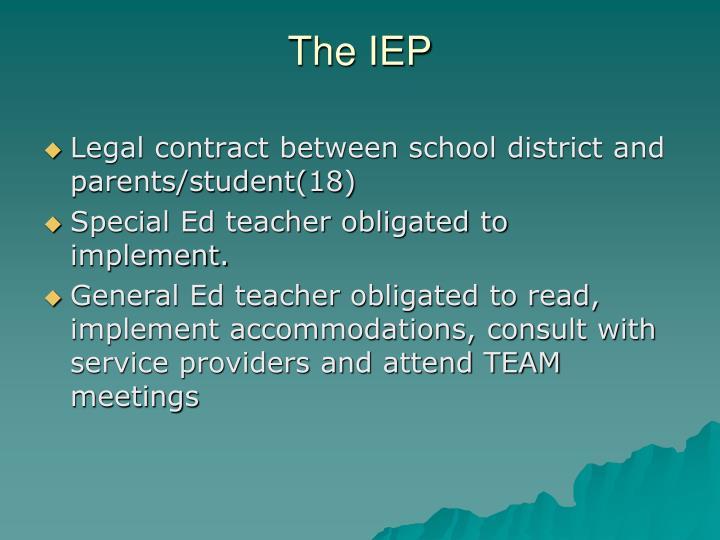 The IEP