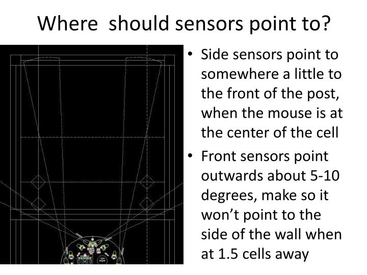 Where  should sensors point to?