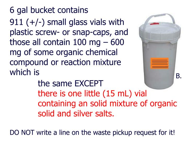 6 gal bucket contains