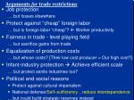 arguments for trade restrictions1