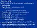 flavors of tariffs