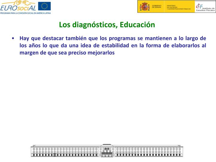 Los diagnósticos, Educación