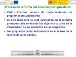 proceso de reforma del sistema presupuestario